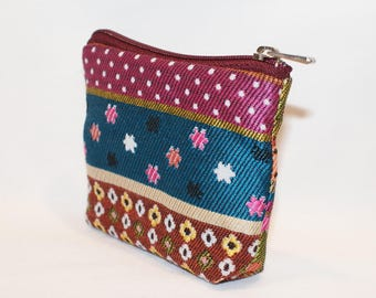 fabric pouch or coin holder