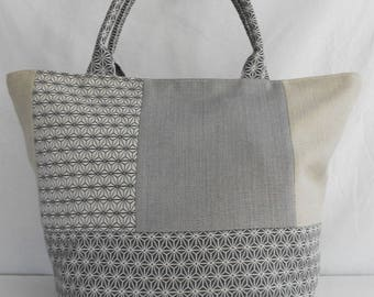 Bluish grey geometric pattern Tote