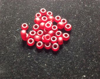 Miyuki 4 mm Red frosted Perle