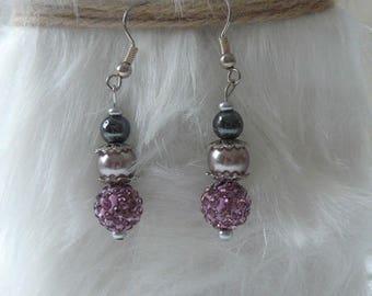 Romantic crystal earrings