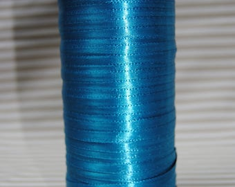 Ribbon 6mm blue satin duck, various colors