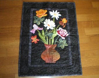 """patchwork """"spring bouquet"""" on the wall or put a black background"""