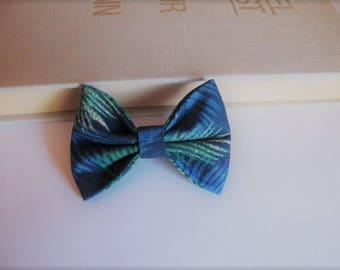 """hair bow """"clip - me"""" blue leaf Palm"""