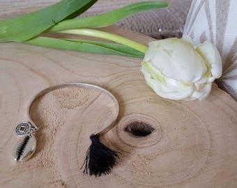 Sterling Silver metal Bangle Bracelet