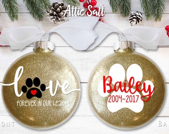 "Dog Memorial Ornament, 4"" Disc Ornament"