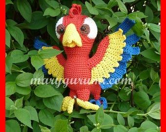 Parrot, crochet, Amigurumi plush