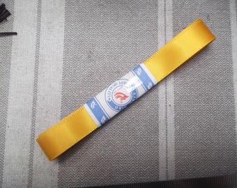 70 cm 1.4 cm wide yellow satin ribbon