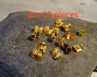 50 Butterfly caps earrings stop quality