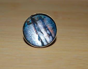 Unique 25 mm bronze ring