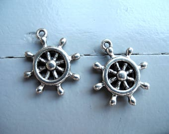 """""""Rudder"""" nickel free silver plated charm"""