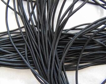 Elastic Black Hat, diameter 2.5 mm (E-02)