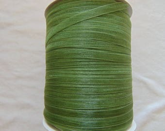Organza Ribbon, olive green crushed, width 06 mm (O-055)