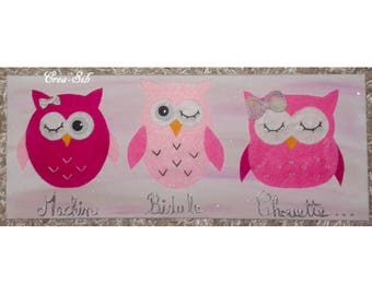"Pink table ""Machin thingy OWL"""