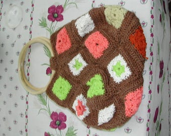 Hand crocheted bag in cotton Foundation