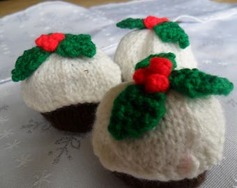Hand Knitted Ferrero Rocher Christmas Pudding Covers