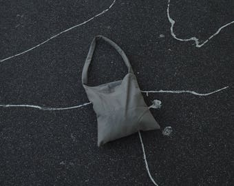 Handmade grey tote bag