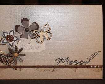 natural tones card any occasion