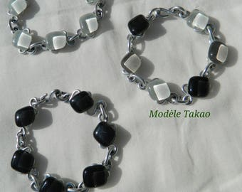 Bracelet made of glass and aluminum, different designs to choose from