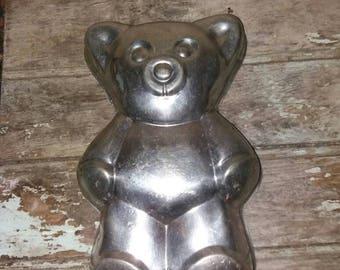 Large Vintage French Teddy Bear Cake Tin/Mold,Gift,French Kitchen ware,Cooking Tin,Retro,Birthday Cake
