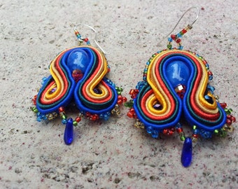 "Embroidered earrings ""Malaga"""
