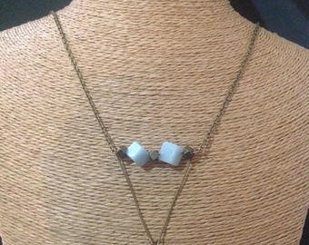 Bronze necklace and Amazonite.