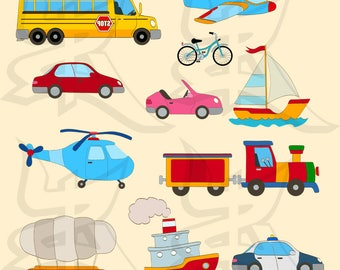 Transportation SVG, Transportation Clipart, Bus Svg, Tractor Svg, Cars Svg, Boat Svg, Plane Svg, Helicopter Svg, Vehicles Svg, Police CarSvg