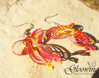 Women's bamboo earrings.