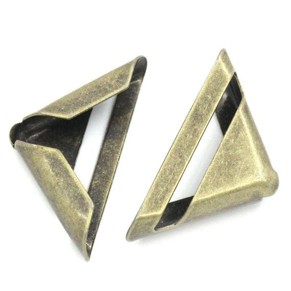 Set of 4 corners / angle - bronze - size: 24 mm