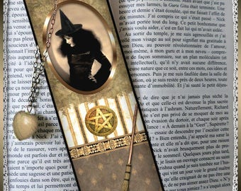 "Bookmarks laminated ""Cauldron and toads"""