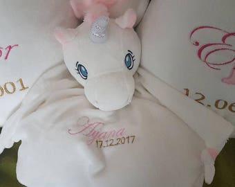 Plush Unicorn custom name of child