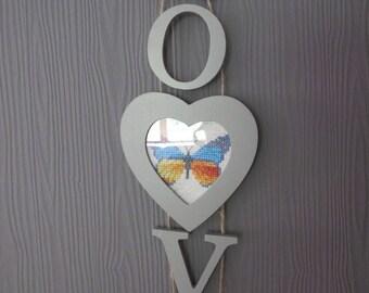 Love heart Butterfly pendant
