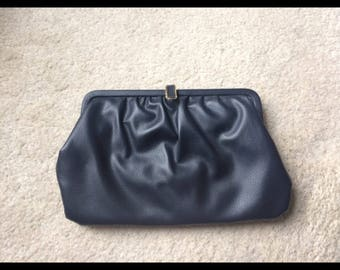 Navy blue clutch bag