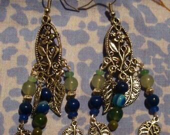 Water flowers earrings