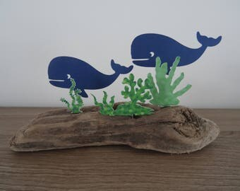 Whales among the seaweed on Driftwood