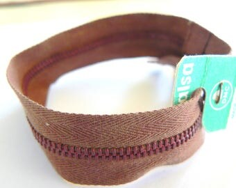 Dmc Metalsa No. 2428 50-70's Brown 20 cm zip