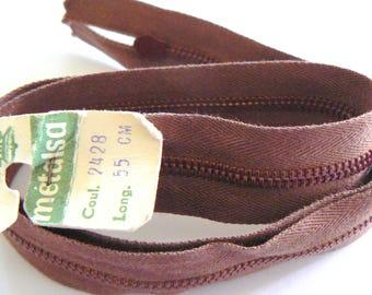Dmc Metalsa No. 2428 50-70's Brown 55cm zip