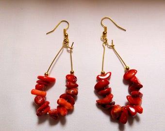 Root chakra magnetised earrings