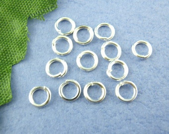 Set of 50 silver ring 6 mm - lead and nickel free