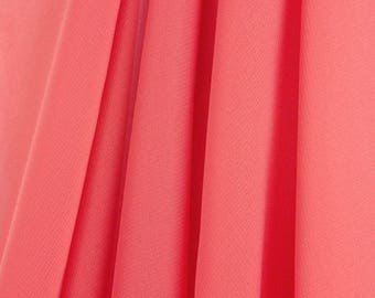 """60"""" Wide - High Quality 100% Polyester Chiffon Sheer Fabric - CORAL"""