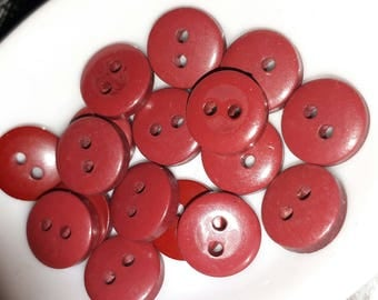 set of 17 buttons brown rust 10 mm sewing scrapbooking