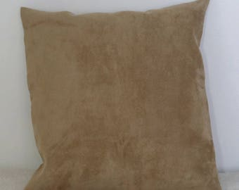 40 * 40 caramel faux suede cushion covers