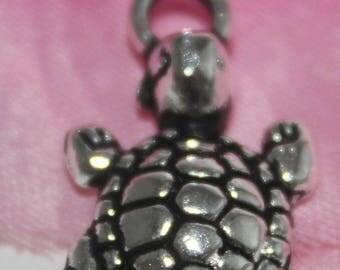 10 Charm charm turtle 13x24mm - SC00105.