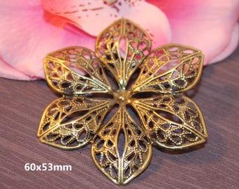 50 charm filigree flower Bronze 60x53mm - SC16294 - prints