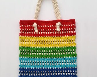 Knotted Rainbow Tote Bag