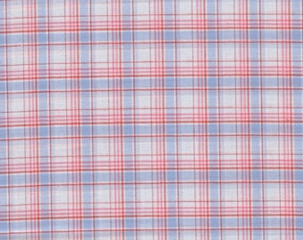 Cotton Scottish sky and pink by 50cm x 150cm width