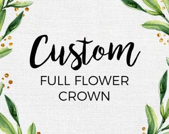 Custom Full Flower Crown // Felt Flower Crown // Custom Colors