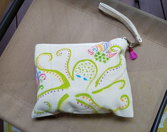 Whimsical Hand-painted Octopurse