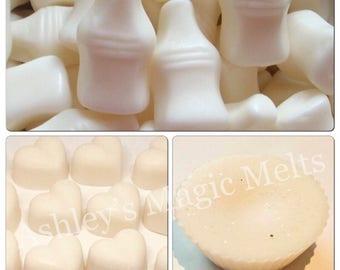 Milk bottle wax melts, sweet wax melts, bakery wax cubes, cheap wax melts, strong wax melts, highly scented wax melts, food wax melt tarts