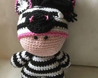 Crochet Amigurumi Doll Zebra