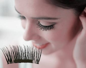 Handmade Magnetic Lashes Bridesmaid Magnetic Eyelashes Function Lashes Magnetic False Eyelashes